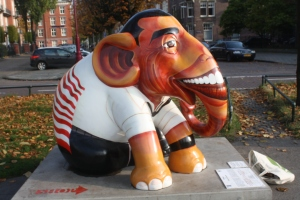 The Obama elephant in Museumplein.